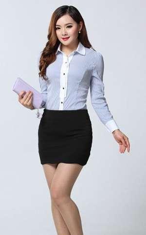 韩版长袖女衬衫
